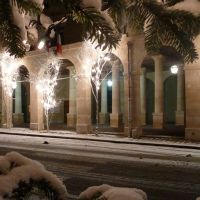 Mairie de La Roche-Guyon sous la neige