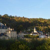 Vue du village de La Roche-Guyon