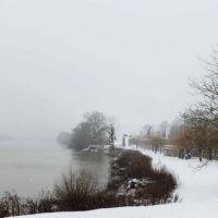 La Roche Guyon sous la neige