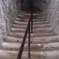 Escalier du donjon troglodytique du Château de La Roche-Guyon